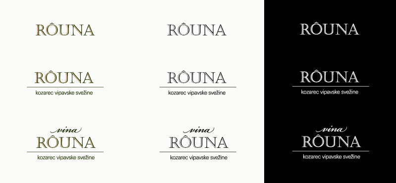 Rouna logo in several versions - preview