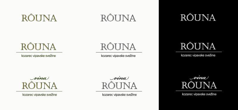 Rouna znak v več variantah - predogled